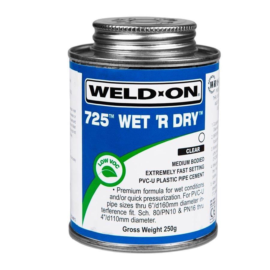 IPS 725 Wet R Dry Glue 1/4 Pint Blue