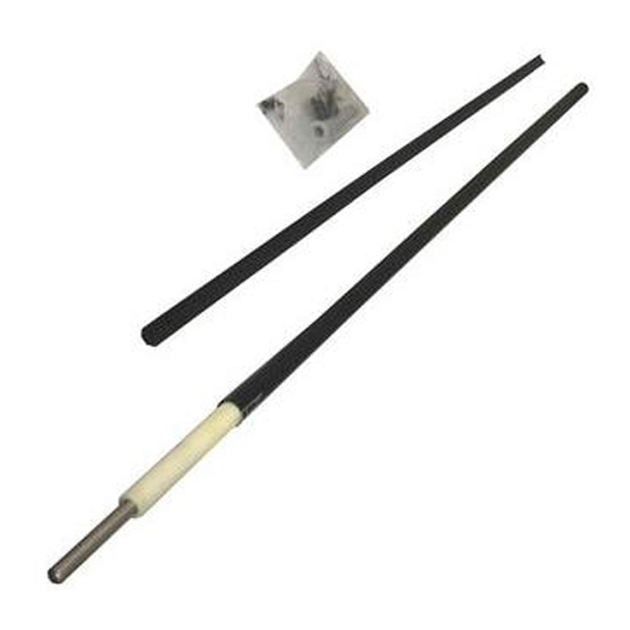 4' Support Pole Black