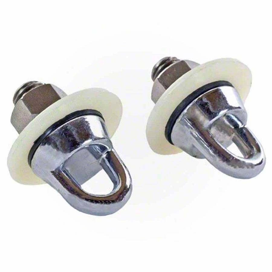 2 Chrome Plated Wall Anchors