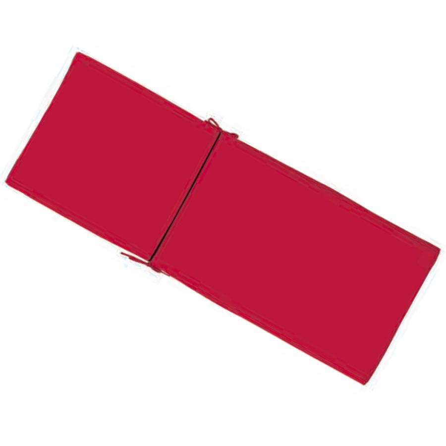 Chaise Lounge Red Solid Cushion