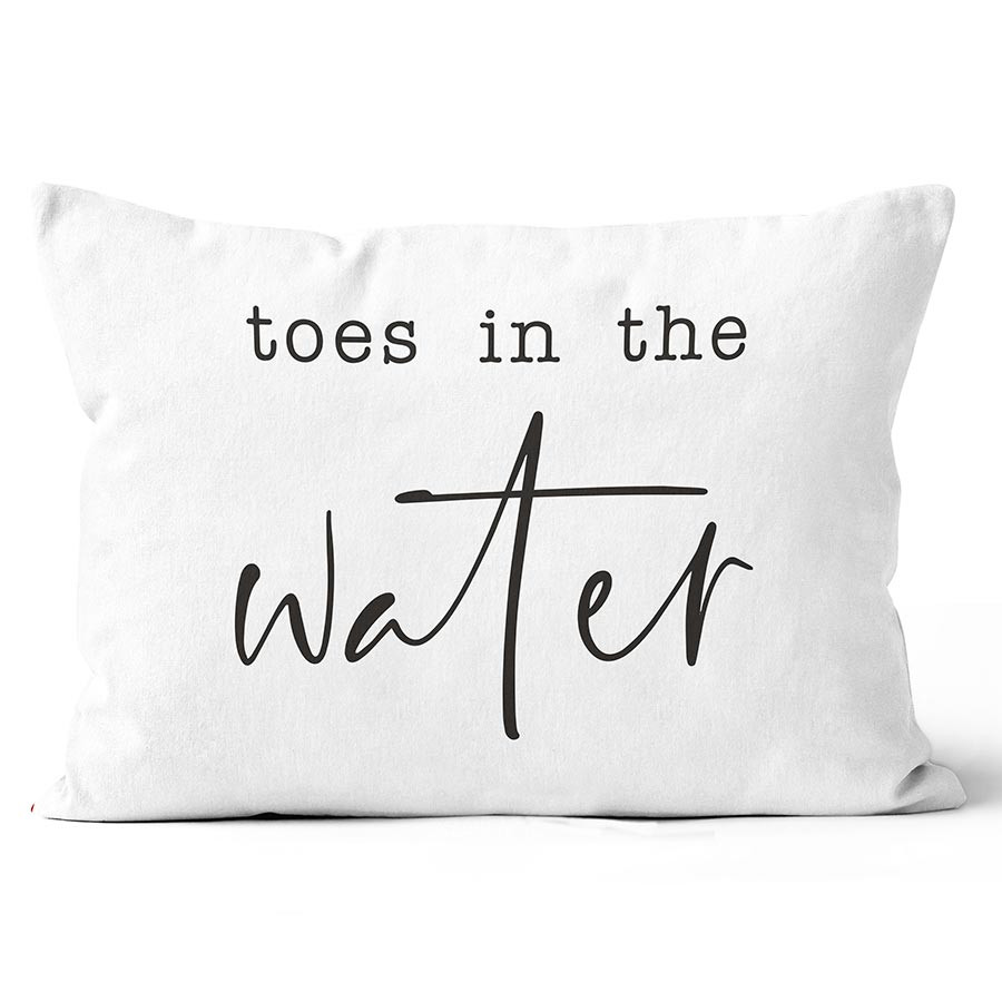 Toes In The Water Bolster Pillow
