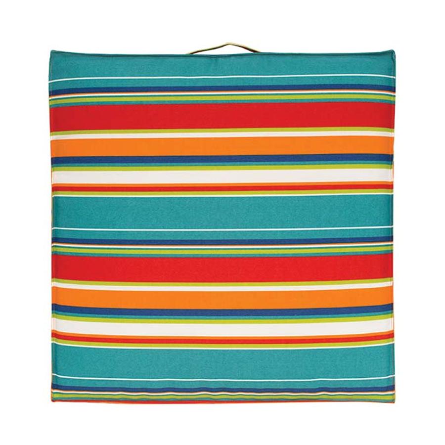 Orange Stripe Poolside Cushion