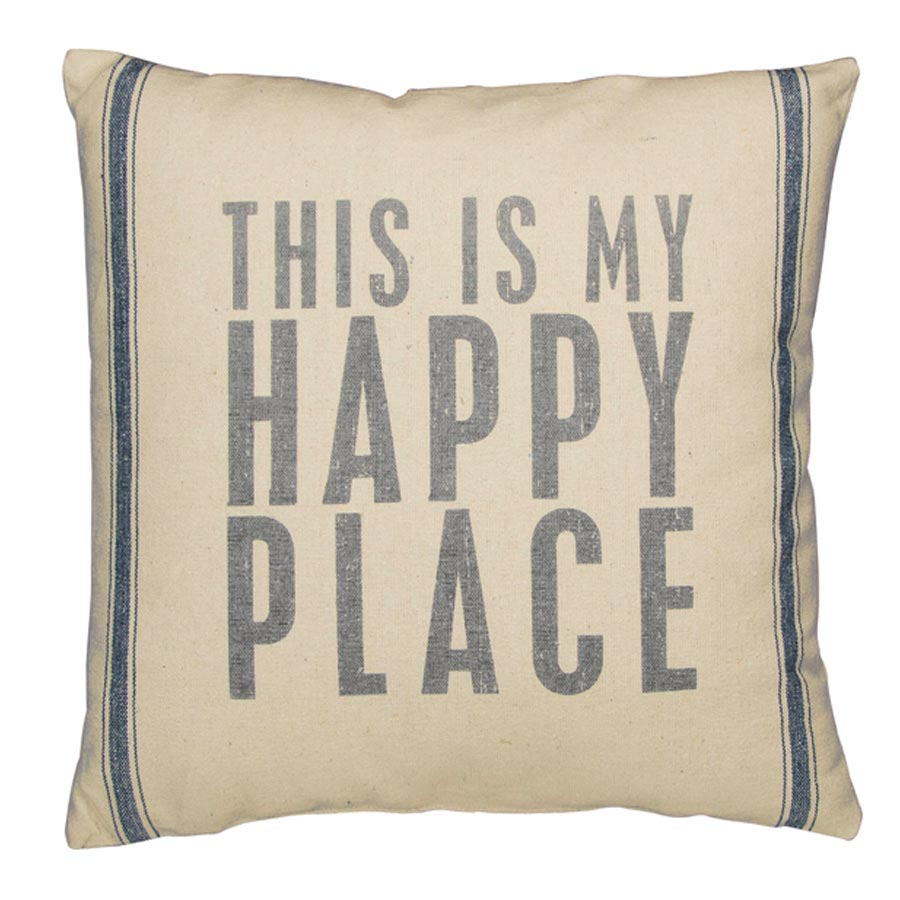 This Is My Happy Place Linen Pillow