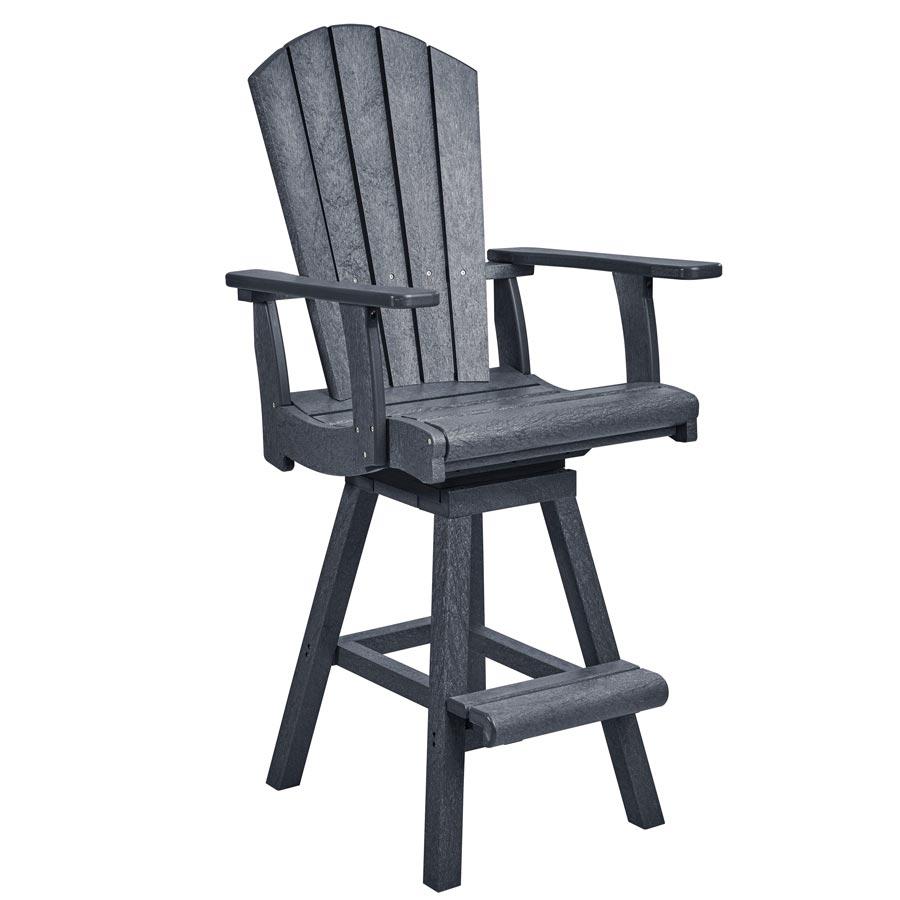 Pub Swivel Arm Chair Slate Grey