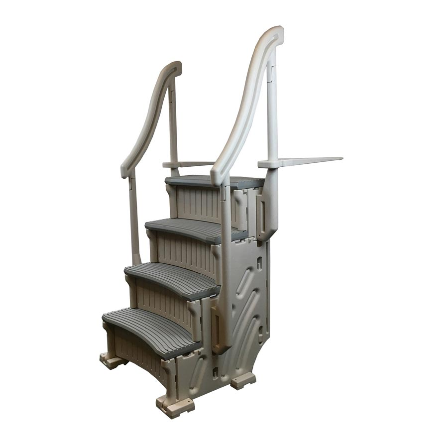 Confer Curve Base 4-Step Staircase